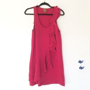 Ali Ro silk dress size 6. Hot pink 100% silk